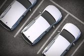 Parked Cars From Above — Stock Photo