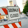 Stock Photo: sidewalk closed