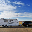 Stock Photo: RV Trailer Journey