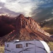 Stock Photo: RV in Canyonlands