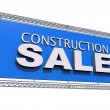 Construction Sale Isolated — Stock Photo