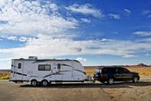 RV Trailer Journey — Stock Photo