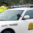 Stock Photo: State Trooper Police Car