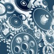 Cool Blue Gears Design — Stock Photo