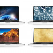 Stock Photo: Laptops and Wallpapers
