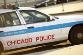 Police Cruiser in Chicago — Stock Photo