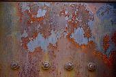 Panneau en métal rouillé — Photo