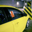 Parking Ticket on Car — ストック写真