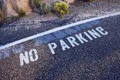 Geen teken van het parkeren — Stockfoto