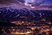 Breckenridge Winter Sunset — Foto de Stock