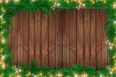 Wood Christmas Backdrop — Stock Photo