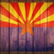 Arizona Flag Wood Background — Stock Photo
