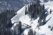 Gevaarlijke winter weg — Stockfoto