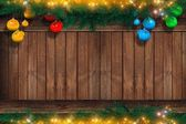 Christmas Copyspace on Wood — Стоковое фото