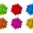 Stock Photo: Colorful Bows Isolated