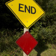 End Road Sign — Stock Photo #37924097