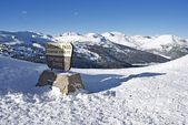 Loveland Pass Summit — Stock Photo