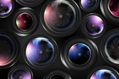 Camera Lenses Background — Stock Photo
