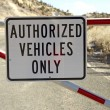 Authorized Vehicles Only — Stock Photo