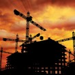 Construction Sunset — Stock Photo