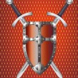 Shield and Swords — Stock Photo