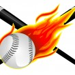 Постер, плакат: Baseball in Flames