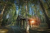 Aged Forest Cabin — Stock Photo