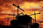 Construction Sunset — Stock Photo