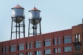 Two Water Towers — Stock Photo