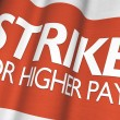 Stock Photo: Strike For Higher Pay