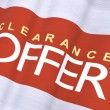 Stock Photo: Waving Clearance Offer