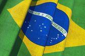 Brazil Canvas Flag — Stock Photo
