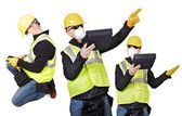 Contractor Poses — Stock Photo