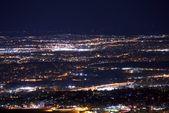 Denver Metro Night Panorama — Stock Photo