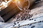 Coffee Beans in Bucket — Stock Photo