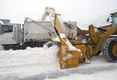 Street Snow Removal — Stock Photo