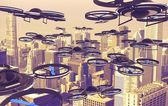 Drones Invasion — Stock Photo