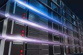 Servers Rack Illustration — Stock Photo