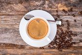 Coffee in White Cup — Stock Photo