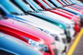 Colorful Cars Stock — Stock Photo