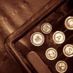 Aged Typewriter Closeup — Stock Photo