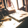Vintage Desk with Glasses — Stock Photo #48867679