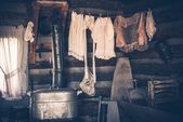 Laundry in Vintage House — Stock Photo