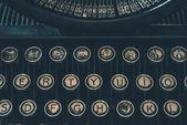 Retro Typewriter Closeup — Stock Photo