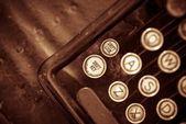 Aged Typewriter Closeup — Stok fotoğraf
