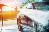 Summer Car Washing — Foto de Stock
