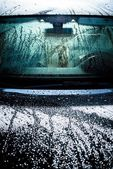 Car Body Covered by Water — Stockfoto