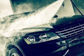 High Pressure Water Car Wash — Stock Photo