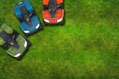 ATV Quad Bikes on Grass — Stock fotografie