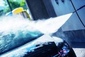 Hand Car Wash Cleaning — Stock Photo
